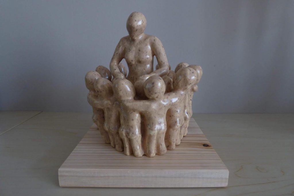 Afscheidsbeeld Juf - Keramiek - Verkocht